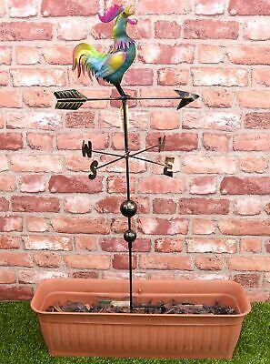 Christmas Concepts® 1.2m/3.9ft Metal Cockerel Weather Vane - Outdoor Garden D...