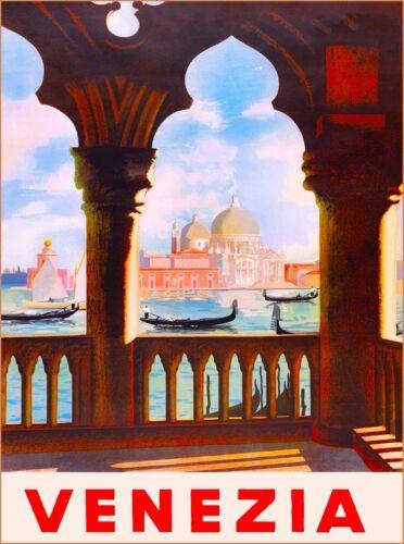 Venezia Venice Italy Vintage Art Italian Europe Travel Advertisement Art Poster