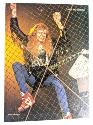 MEGADETH / DAVE MUSTAINE / MAGAZINE FULL PAGE PINUP POSTER CLIPPING (25)