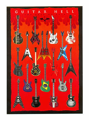 Guitar Hell The Axes of Evil Postcard 10cm x 15cm
