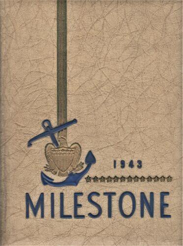 "1943 ""Milestone"" - Hope College Yearbook - Holland, Michigan +"