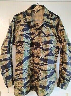 Vietnam War Tiger Stripe Camouflage Exposed Button Combat Jacket, US-S to US-XL