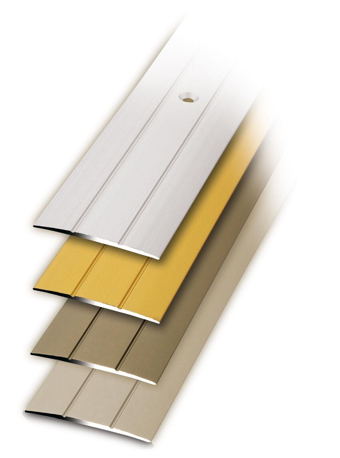 Bodenprofil Übergangsprofil Laminat Parkett zum Schrauben 100 x 3,8 cm Aluminium