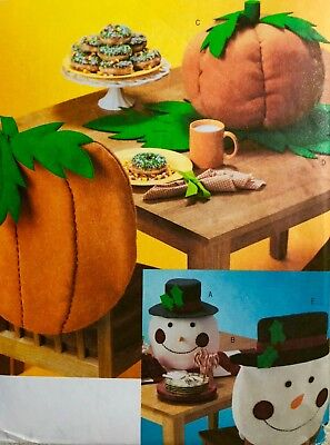 Butterick Craft Sewing Pattern #3988 TABLETOP FOR FALL AND CHRISTMAS - Fall Crafts For Adults