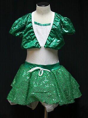 Wünschen Come True Kostüm Tanz Tutu 1 Stk. Weiß/Grün Stechpalmen Rock Imc V1790