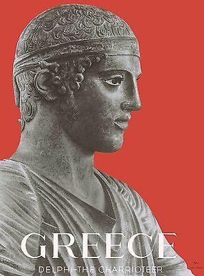 Greece Greek Delphi the Charriotier Vintage Travel Advertisement Poster