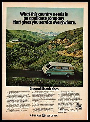 1974 General Electric Appliance Service Country City Contrast Vintage PRINT AD