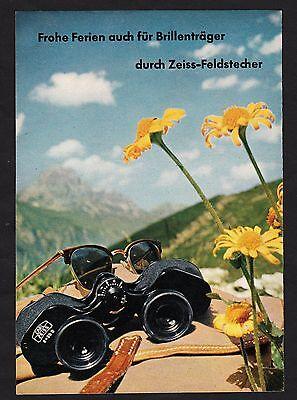 3w1679/ Alte Reklame von 1960 - CARL ZEISS - Das Zeichen weltberühmter Optik.