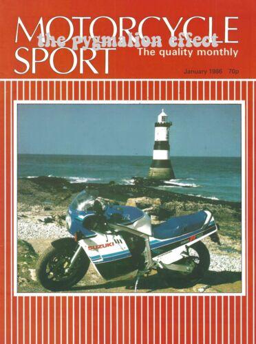 Motorcycle Sport January 1986 - Suzuki GSX-R750 BMW K75 GSX-R750F BMW K100RT
