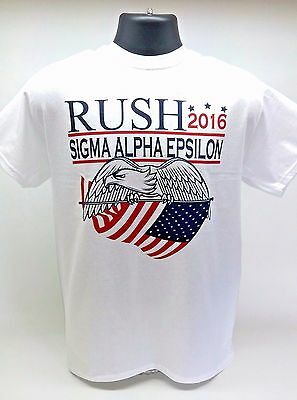 Sigma Alpha Epsilon Fraternity Rush 2016 Election T-Shirt White (Fraternity Rush Shirt)
