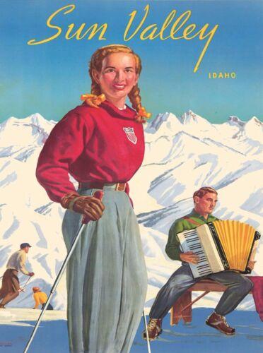 Sun Valley Idaho United States America Vintage Travel Advertisement Poster 7