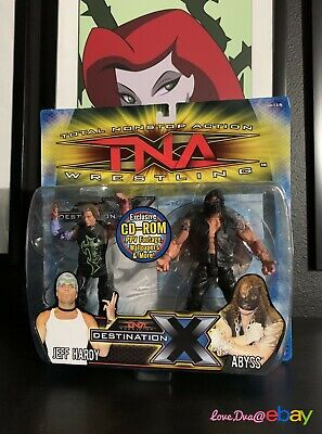 TNA Wrestling Marvel Toys Toy Biz Impact 2 Pack Abyss Jeff Hardy Figures WWE for sale  Shipping to India