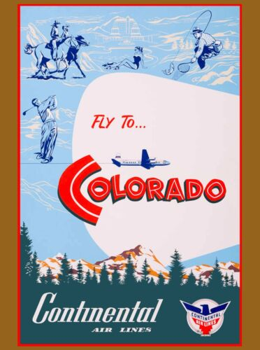 Colorado Continental United States of America Travel Advertisement Art Poster