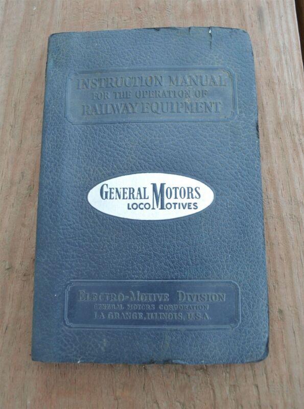 1941 General Motors 1000 hp Switching Locomotives Model Operating Manual
