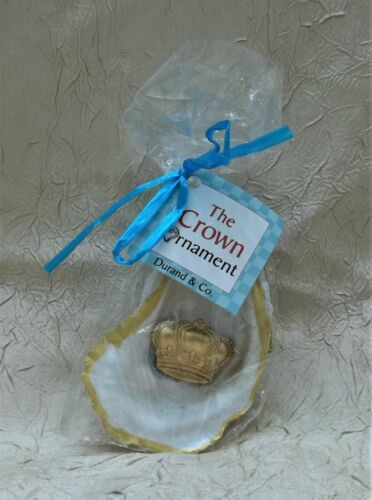The Crown Ornament Oyster Shell Christmas Tropical Holiday Design New