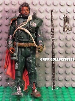 "Star Wars Rogue One Jedha Revolt LOOSE 3.75"" Figure SAW GERRERA with staff & gun"