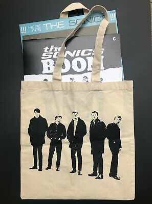 THE SONICS BOOM Tote Bag NWOT Vinyl Records or Grocery Tote Budget Garage Rock Budget Tote Bag