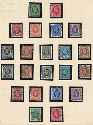 Lot:38965  GB George V  1934 dark background defin issue used and unused sets