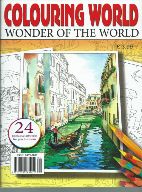 colouring wonders of the world Adult Colouring Book Positive & Soothing-relaxing
