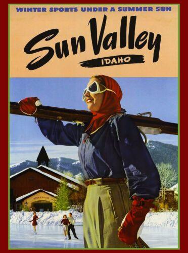 Sun Valley Idaho Ski Winter United States America Travel Advertisement Poster