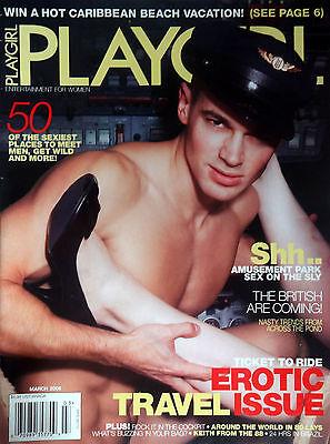 PLAYGIRL Magazine March 2006 Marcus Schenkenberg Rob Metts Keith Slettedahl Nude