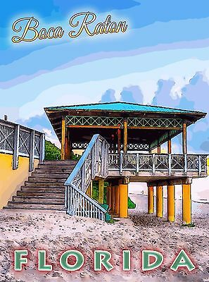Boca Raton Florida Unted States America Travel Advertisement Art Poster