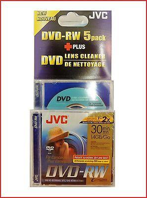 JVC DVD-RW 1.4GB GB 8cm 30Min Camcorder Mini DVD Discs Pack 5 + OBJEKTIV online kaufen