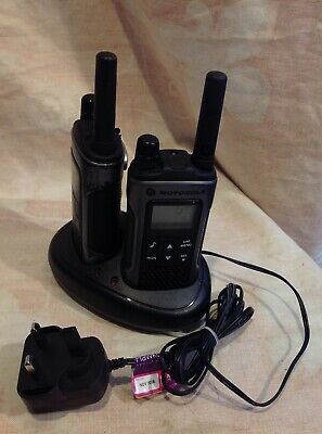Motorola XT180 2-Way PMR446 Walkie Talkie Radio - Black