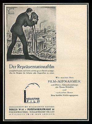 Grosse Werbung Reklame 1921 INDUSTRIE FILM BERLIN (2) Der Repräsentationsfilm