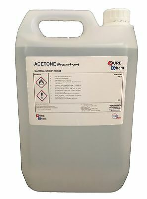 5L Container Pure Acetone - Acrylic Nail Remover Nail Polish Remover 99.8% for sale  Blackpool