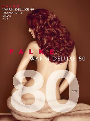 FALKE Warm Deluxe 80 den Strumpfhose Damen Uni blickdicht & wärmend