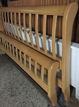 Sleigh timber Queen bed with mattress Plumpton Blacktown Area Preview