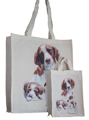 Brittany Spaniel Dog Adult & Child Shopping or Dog Treats Packed Lunch Tote Bag