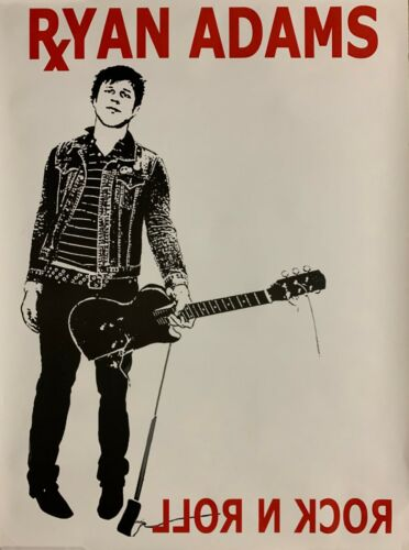 """Ryan Adams Rock N Roll poster New 2003 promo This Is It So Alive LARGE 34"""" tall"""