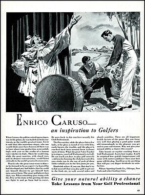 1940 Enrico Caruso opera Wilson Sporting Goods Golf vintage art print ad L52