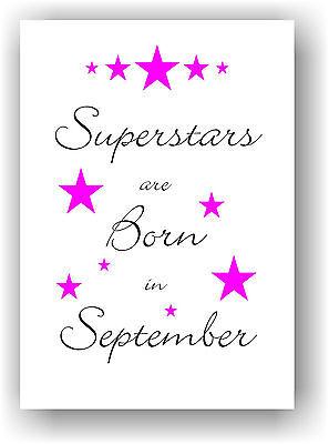 Geschenkidee Geburtstag Frau Mädchen personalisiert mit Geburtsmonat Sterne NEU