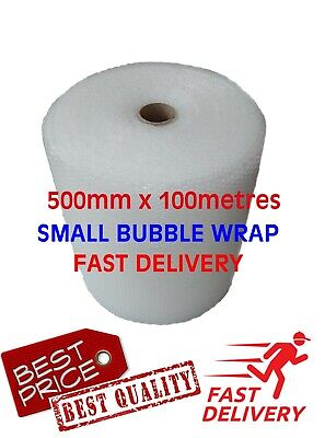 Small Bubble Packaging Wrap for Safe and Secure Removal and Storage 500mm X 100M