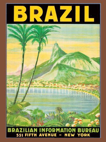 Rio de Janeiro Brazil Sugarloaf South America Travel Advertisement Poster 2