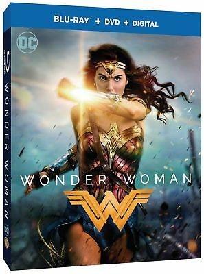 Wonder Woman (Blu-ray/DVD, 2017, 2-Disc Set, Includes Digital Copy) NEW