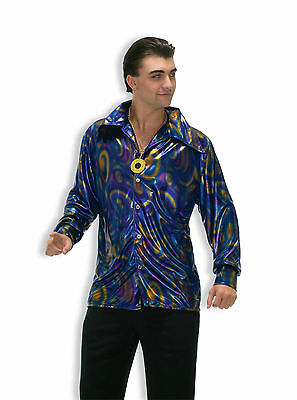 Adult Disco Saturday Night Fever 70s Dude Shirt Costume  - Saturday Night Fever Costume