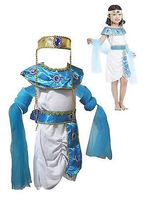 Halloween Costume Egyptian Princess Party Dress Up for Girl Children 4-12y - Egyptian Halloween Costumes For Kids
