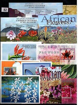 BL 37 S/S - MNH - MIX - NATURE - PLANTS - FLORA - FLOWERS - WHOLESALE