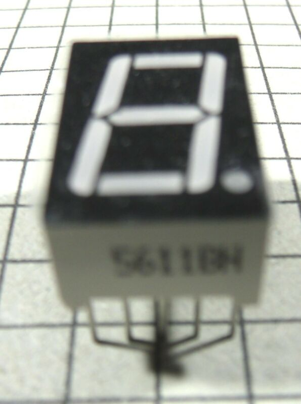 7 Segment Common Anode LED Display 5611BH : 3pcs per Lot