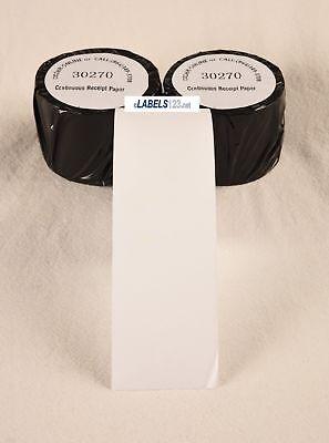 Dymo Compatible 30270 Continuous Receipt Paper Rolls
