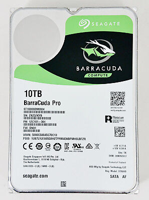 Seagate Barracuda Pro St10000dm0004 10Tb 7200Rpm 3 5  Sata Desktop Hard Drive