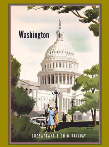 Washington D.C. Chesapeake United States America Travel Advertisement Poster