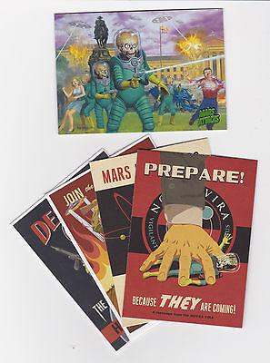 2013 Mars Attacks Invasion base set 1-95 + join the fight insert set 1-4