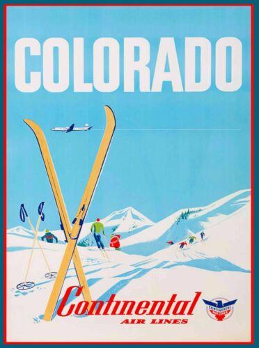 Colorado Ski Skiing United States of America Travel Advertisement Art Print