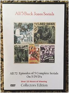 All 5 Complete Buck Jones Western Serials -  Cliffhanger Movies
