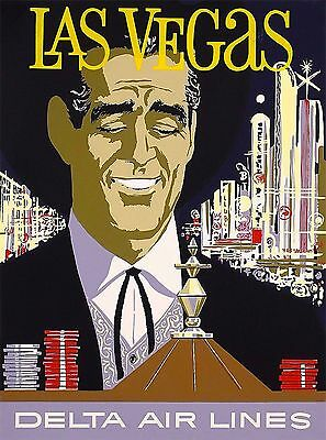 Las Vegas Delta Airlines United States Vintage Travel Advertisement Poster 2